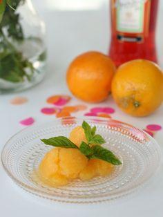 Orangen-Aperol-Sorbet | 23qm Stil