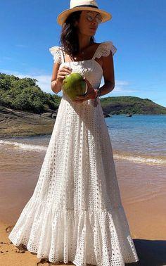Bohemian White Lace Dress Boho Beach Dresses Chic Women Maxi Dress Womens A Plus Size Summer Long Wear Large Sizes 2019 Frocks White Lace Maxi Dress, Bohemian White Dress, Lace Ruffle, Black Maxi, Frack, Vestido Casual, Maxis, The Dress, Ideias Fashion