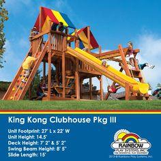 King Kong Clubhouse Pkg III #swingsets #rainbowplay #outdoorplay #familyfun