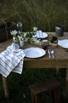 rustic outdoor meal, source unknown