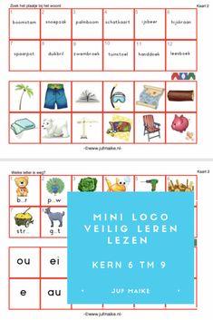 Mini Loco Veilig Leren Lezen kern 6 tm 9 • Juf Maike - tips voor de ontwikkeling Escape The Classroom, Spelling, Homeschool, About Me Blog, Study, How To Plan, Mini, Reading, Posters