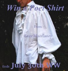 """The Prize: A Poet Shirt in cotton-poly blend. Winner may choose from adult size XS to adult size XL. To enter the contest: Leave a comment on this post that answers the question, """"Which item in the…"""