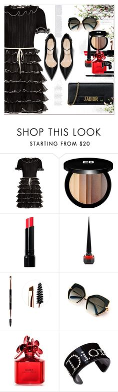 """""""Happy Hour ... Happy DAY"""" by dragananovcic ❤ liked on Polyvore featuring Gucci, Edward Bess, Bobbi Brown Cosmetics, Christian Louboutin, Sephora Collection, Marc Jacobs and Christian Dior"""