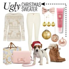 """#uglychristmassweater"" by summerocha ❤ liked on Polyvore featuring H&M, Lancôme, Deva Designs, River Island, Ted Baker, Splendid, Bloomingville, David Jones, entry and contest"