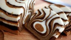 Our Gourmet Recipes: Zebra Cake Recipe Fudge Recipes, Gourmet Recipes, Sweet Recipes, Cake Recipes, Food Cakes, Cupcake Cakes, Baby Cakes, Mini Cakes, Cupcakes