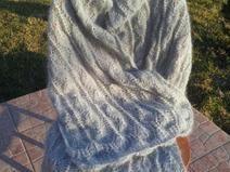 Szal ażurowy, knitted shawl