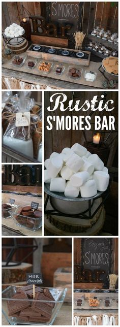 rustic s'mores bar station was at a backyard wedding! See more party ideas . This rustic s'mores bar station was at a backyard wedding! See more party ideas . - -This rustic s'mores bar station was at a backyard wedding! See more party ideas . Dream Wedding, Wedding Day, Wedding Rustic, Trendy Wedding, Wedding Burlap, Summer Wedding, Diy Wedding Bar, Wedding Signs, Rustic Weddings