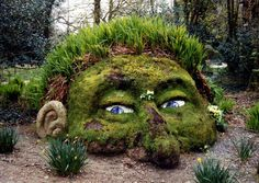 Giants Head at the Lost Gardens of Heligan. Created by Sue and Pete Hill.