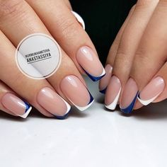 43 Trendy Ideas For Gel Pedicure Spring French Manicures Perfect Nails, Gorgeous Nails, Pretty Nails, Classy Nails, Stylish Nails, Nail Deco, Gel Pedicure, Short Square Nails, Minimalist Nails