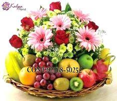 New Fruit Basket Hamper Christmas Ideas Fruit Flower Basket, Fruit Box, Fruit Flowers, New Fruit, Fruits Basket, Fresh Fruit, Buy Flowers, Fruit Hampers, Fruit Gift Baskets