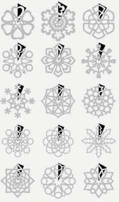 DIY : Paper Snowflakes Templates by Hairstyle Tutorials - Christmas DIY Holiday Crafts, Holiday Fun, Fun Crafts, Crafts For Kids, Arts And Crafts, Paper Crafts, Paper Toys, Noel Christmas, All Things Christmas