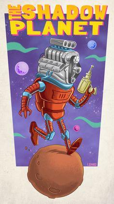 """Omaggio di Luca Giorgi per """"The Shadow Planet"""", progetto Radium in crowdfunding. #scifi #comics #character #crowdfunding"""