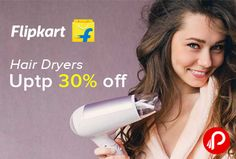Flipkart #PersonalCare #Appliances is offering Upto 30% off on #HairDryers. All big Brands included like Philips, Nova, Panasonic, Vega, Remington, Agaro & many More.  http://www.paisebachaoindia.com/hair-dryers-personal-care-appliances-upto-30-off-flipkart/