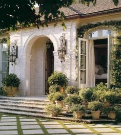 Courtyard Entry. Pavers w/ ground cover. Alexander.
