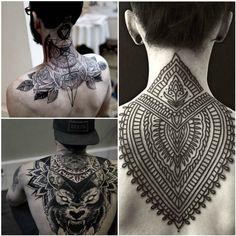 Body Art Tattoos, Tribal Tattoos, Tatoos, Tattoo Espalda, Neck Tattoos Women, Leg Painting, Back Tattoos For Guys, Body Art Photography, Tattoo Videos