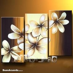 Hand Painted Canvas Flower Oil Painting Modern Acrylic Floral Paintings Wall Art Cuadros Home Decor Bedroom 3 Panel Pictures Triptych Wall Art, Canvas Wall Art, Multiple Canvas Paintings, Tole Painting, Wall Art Pictures, Acrylic Art, Diy Art, Flower Art, Art Projects
