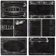 Chalkboard Cards - Everyday Vintage - What's New - Shop Products - Store