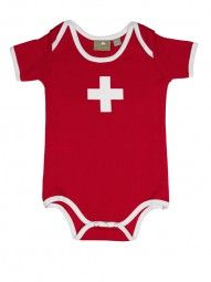 Baby-Body Swiss Cross, rot / Infant Swiss Cross red This body has a very good quality. Buy it on our shop.