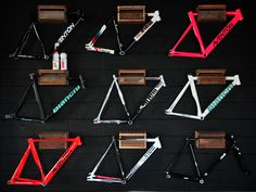Pursuit Bicycles Shop Track Frameset Wall