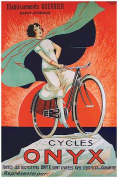 16x24 Phebus Bicycles Paris 1890s Classic French Bicycle Poster