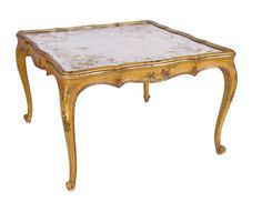 Eglomise Chinoiserie Cocktail Table