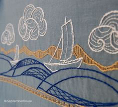 Japanese inspired embroidery —September House