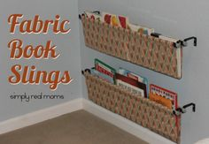 DIY Fabric Book Sling-So Easy! DIY Fabric Book Sling-So Easy! Make your own fabric book slings-perfect for any room in the house. This sewing project can be done easily in an hour or less! Great starter sewing project!  HomeTalk