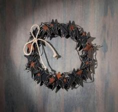 Rustic Western Stars Decorative Wall or Door Wreath