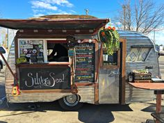https://flic.kr/p/s4NSkR | The Silver Seed Food Truck | In Fort Collins.  Such great food!   It's a 1964 Serro-Scotty Sportsman.