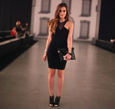 Shop this look on Kaleidoscope (dress, bootie, clutch)  http://kalei.do/WWyCWs7TX7TbfMc7