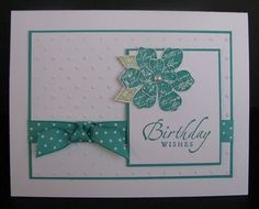 handmade birthday card ... like the clean lines and balanced  design ... Stampin' Up!
