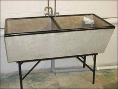 Concrete Laundry Sink Base : Laundry, Laundry sinks and Sinks on Pinterest