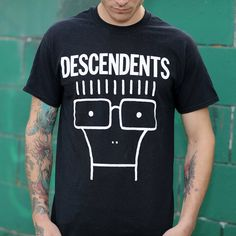 Descendents Classic Black Milo Shirt Band Shirts, Out Of Style, Going Out, Tees, Classic, Mens Tops, T Shirt, Logo, Black
