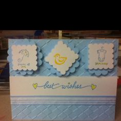 Baby shower card.