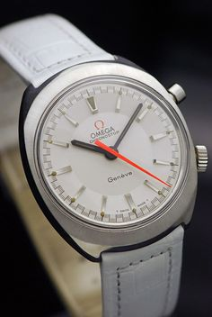 1968 Omega Chronostop Geneve White - $1,000