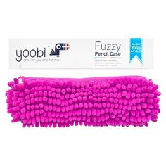 Yoobi™ Fuzzy Pencil Case - Pink