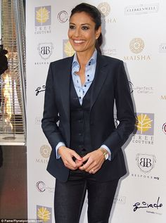 Suits you miss: At first glance it looked like Melanie was wearing a trouser suit, until you realised it was actually skinny jeans
