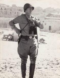 General Patton on the beach at Gela (Sicily). July 10, 1943. #enna #sicilia #sicily