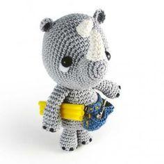 Pippo the Rhino plumber amigurumi pattern by airali handmade