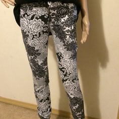 Really Cute Jeans with Lace Print These jeans are unique and will add flare to any wardrobe Candie's Jeans
