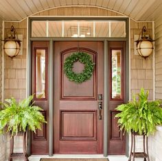 Front door design ideas wood exterior front doors with sidelights design interior home decor dream house . Entry Door With Sidelights, Front Door Entrance, Exterior Front Doors, House Front Door, Front Entrances, Front Entry, Front Porch, Door Entry, Front Door Paint Colors