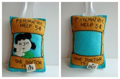 Lucy's The Doctor is In hand-made felt ornament; double sided (Lexifeltique)