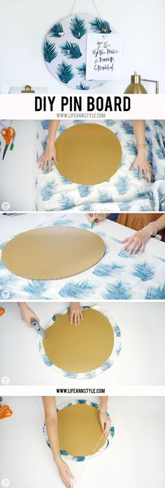 DIY push pin board | 5 DIY Desk Decors for Your Home Office | Ann Le Style