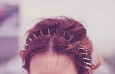 spiked headband http://shop.dropdeadgorgeousdaily.com/shop/accessories/gold-and-silver-metal-studded-headband/