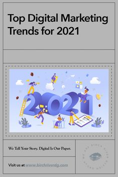 Top Digital Marketing Trends for 2021 Best Email Marketing Software, Digital Marketing Business, Social Media Digital Marketing, Digital Marketing Trends, Marketing Goals, Content Marketing Strategy, Digital Trends, Social Marketing, Facebook Marketing
