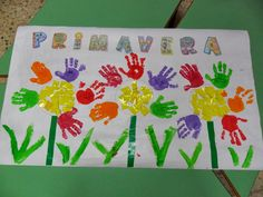 Spring and summer flowers. Great project for preschool, daycare