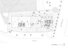 hk+b Architecture Designs Winning Competition Entry for Tunisian Office Building,Ground Floor Plan. Image Courtesy of hk+b Architecture