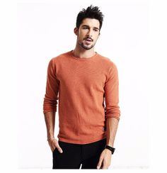 Mens Long Sleeve Casual Autumn Sweater