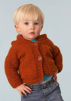 Ravelry: Simple Hooded Cardigan pattern by Lion Brand Yarn/bulky weight 270-405 yards size 10 1/2