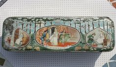 Super Pearks Stores Victorian tin with illustrations of children's traditional stories by Tinternet